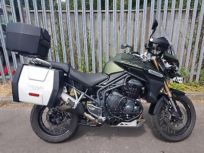 Triumph Tiger Explorer XC 1215cc ABS (15) Green FULL LUGGAGE+1 OWNER+FSH+EXTRAS!