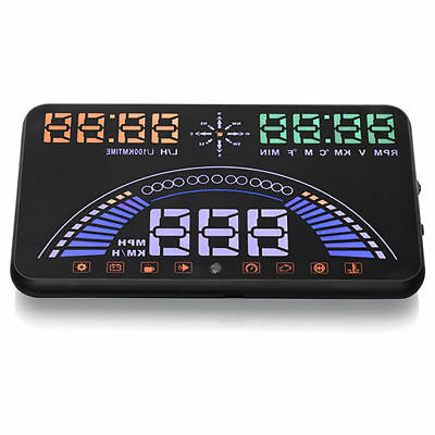 "New! BOYO Vision VTHUD7 Plug and Play 5.8"" Inches Car Safety Head Up Display"