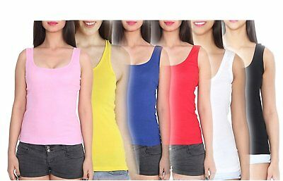Women's Plain Cotton Camisole (Combo Of 5 Color) - FREE SHIPPING