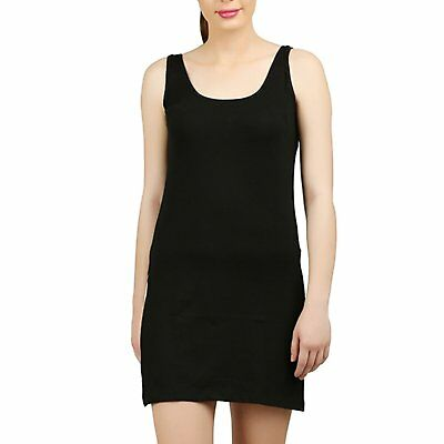Women's Plain Black Cotton Camisole - FREE SHIPPING