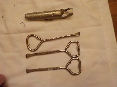 4 Paint Can Openers Advertising Pittsburgh Paints Glaize & Bro.winchester Va. &