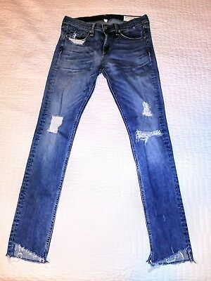 69d5df0ae126db NEW $250 RAG & bone Jeans destroyed Skinny Jeans step hem Commodore ...