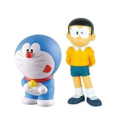 Doraemon & Nobita Nobi PVC pre-painted 2 figures figurines statues lot