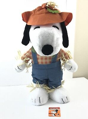 Peanuts Snoopy Plush Doll 21 Inches Scarecrow Toy Thanksgiving Fall Harvest New