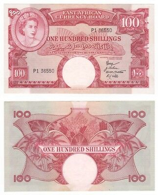 East Africa 100 Shillings Banknote (1958-68) P.40 - aEF.