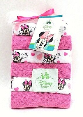 Disney Baby Minnie Mouse 12 Pack of Terry Washcloths Machine Washcloths Cotton