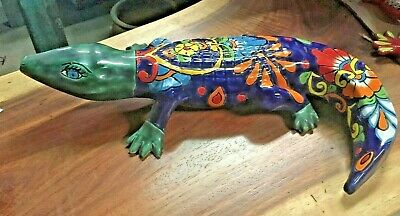 Talavera Mexican Potter - Animals - Colorful Alligator