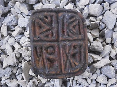Antique Wooden Ritual Bread Stamp Prosphora With Patina