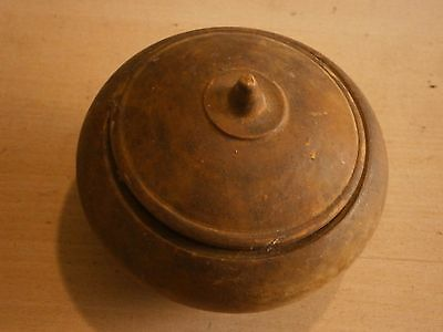 Vintage Antique Wooden Saltshaker Box For Spices With Lid