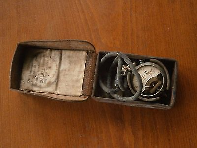 Antique Vintage Device Tool For Measurement Volt Current With Leather Box