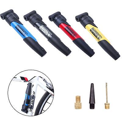 New MTB Bicycle Cycle Compact Pump Presta Schrader Valves Tire Tube Inflator 6A