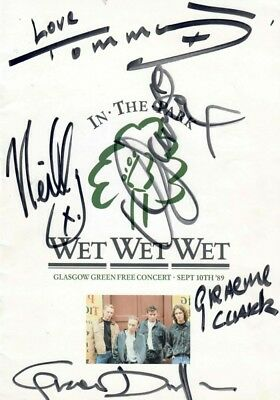 Wet Wet Wet Signed Autographs