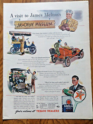 1945 Texaco Gas Oil Ad James Melton's Jaloppy Museum 1945 Du Barry Ad Donahue