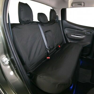 TOWN & COUNTRY Car Seat Cover - Rear Seat - Black - Fiat Fullback and Mitsubishi