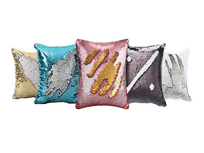 Magic Cushion Cover Pillowcase Sublimation Printing Transfer Stylish Sequin Gift