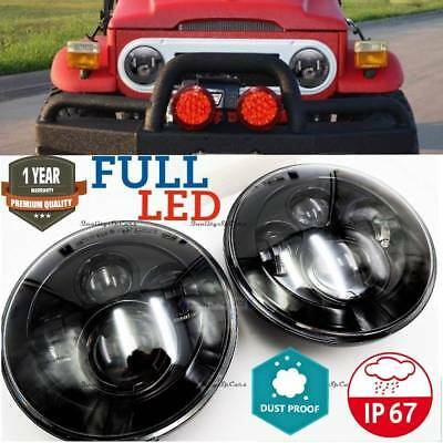 Coppia Fari LED Nissan Patrol toyota land cruiser lj fj tuning Headlight 7'' H4