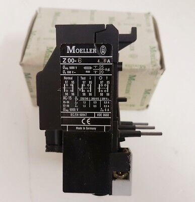 Motor Thermal Overload Relay Auxiliary Contactor 4-6A 3 Pole 690v Z00-6 Switch
