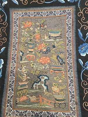 Antique Chang Dynasty Silk Embroidery Panel Tapestry