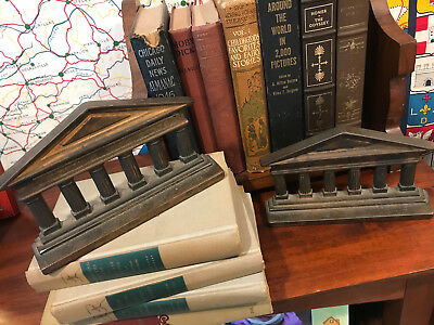 Vintage Neoclasical Bookends - Legal, Government, Architecture