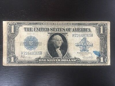 Series of 1923 Large Size $1 Blue Seal Silver Certificate - US Note