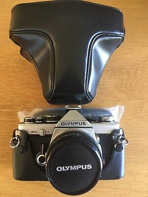 Olympus OM2 Camera with case and original lens F.ZUIKO AUTO-S 1:1.8 f=50mm