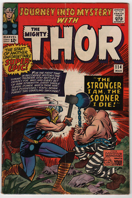 JOURNEY INTO MYSTERY #114    KEY 1st Appearance of ABSORBING MAN