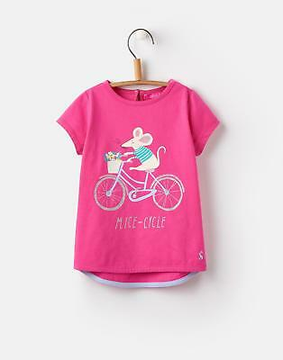 Joules Pixie Screen Print T shirt in Bright Pink MiceinCycle