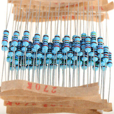 1100pcs Metal Film Resistor  Assortment Kit 1/2W 0.1Ω~10MΩ 110 Values Assorted