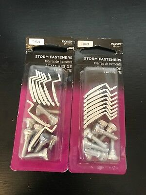 "(Lot of 2) Prime Line Storm Door Panel Clips 1/4"" ..6mm..T-8724 Qty-8"