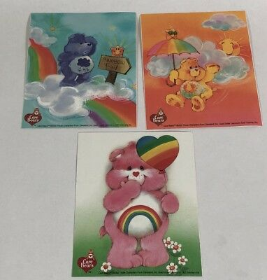 "New Care Bear Large 5"" Stickers Set Of Three"