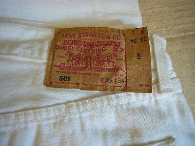 White vintage Levis 501 W36, L34 in great condition
