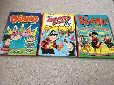 The Beano Annuals X 3 1990 1991 1992 Unclipped