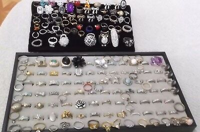 Lot Of 178 Vintage To Now Rings & Toe Rings - Assorted Styles