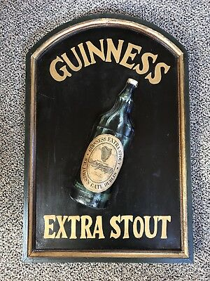 "Guinness Extra Stout~Dublin,ireland~""ready To Hang"" 3D Advertising Wood Pub Sign"