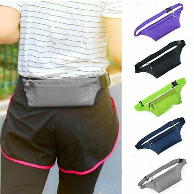 Unisex Waist Belt Bum Bag Jogging Running Travel Pouch Holiday Money Sport Pack