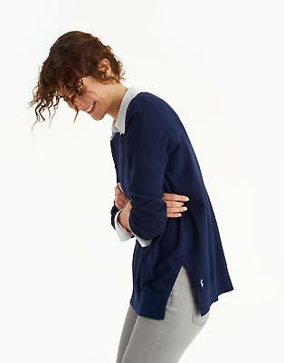 Joules Womens Sally Crew Neck Jumper w/Ribbed Neck, Cuffs and Hem in French Navy