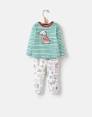 Joules 124728 Baby Boys Applique Set with Shoulder Popper Fastening in Pooches
