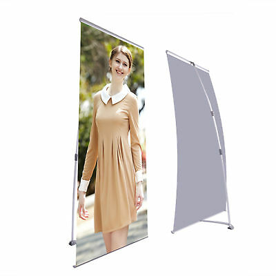 "36-83"" Height Adjust Roll Up Retractable Banner Stand Exhibit Trade Show Display"