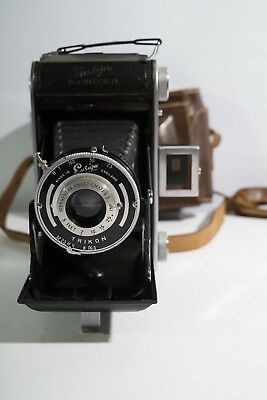 ensign bellows camera with leather case