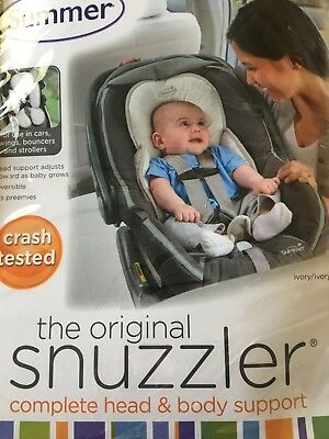 Summer Infant Snuzzler Head Support for Car Seats and Strollers - Ivory