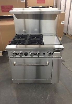 """New Heavy 36"""" Range 4 Burners 12"""" Griddle 1 Full Oven Stove  Natural Gas Only"""