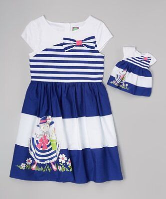 Dollie and Me Girls Dress Size 7 with Matching Doll Outfit NWT