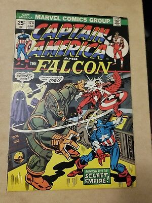 Captain America #174 (1974) VG+  THE FALCON APP  KEY🔥 SEE MY OTHER AUCTIONS 🔥