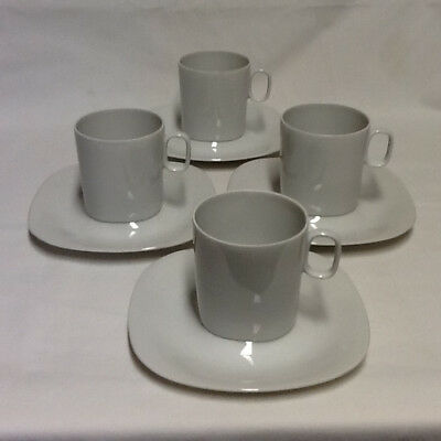 Block Langenthal Transition White Cup and Saucer