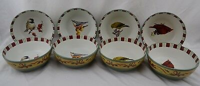 Lenox Winter Greetings Everyday Birds Oven to Table set 8 All Purpose Bowls