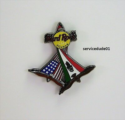 Hard Rock Cafe Tijuana 2002 Eagles With American & Mexican Flags Around Logo Pin