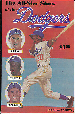 All-Star Story of the Dodgers Comic Los Angeles 1979 SANDY KOUFAX JACK ROBINSON