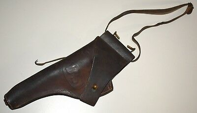 VINTAGE WW 1 Us Army Military Revolver Leather Holster G & K 1917 ~  Excellent!