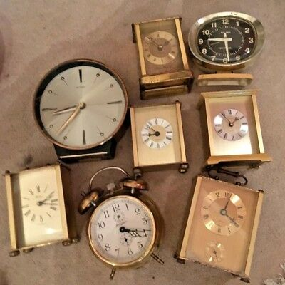 Collection of Vintage Mantle Clocks and Carriage Clocks