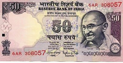 INDIA 50 Rupees 2016 P NEW Letter E - UNC Banknote